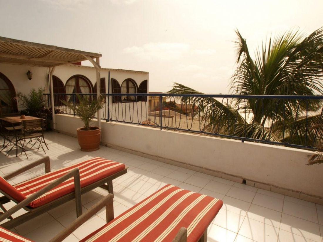 La terrasse privée-solarium